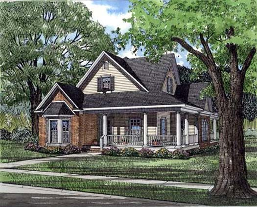 Country Farmhouse House Plan 82022 Elevation