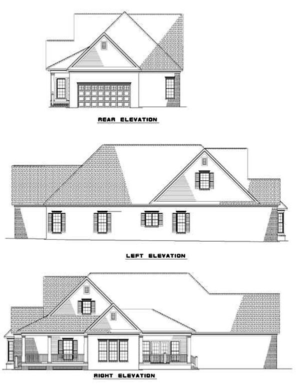 Country Farmhouse House Plan 82022 Rear Elevation