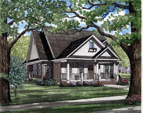 Country Farmhouse Traditional House Plan 82023 Elevation