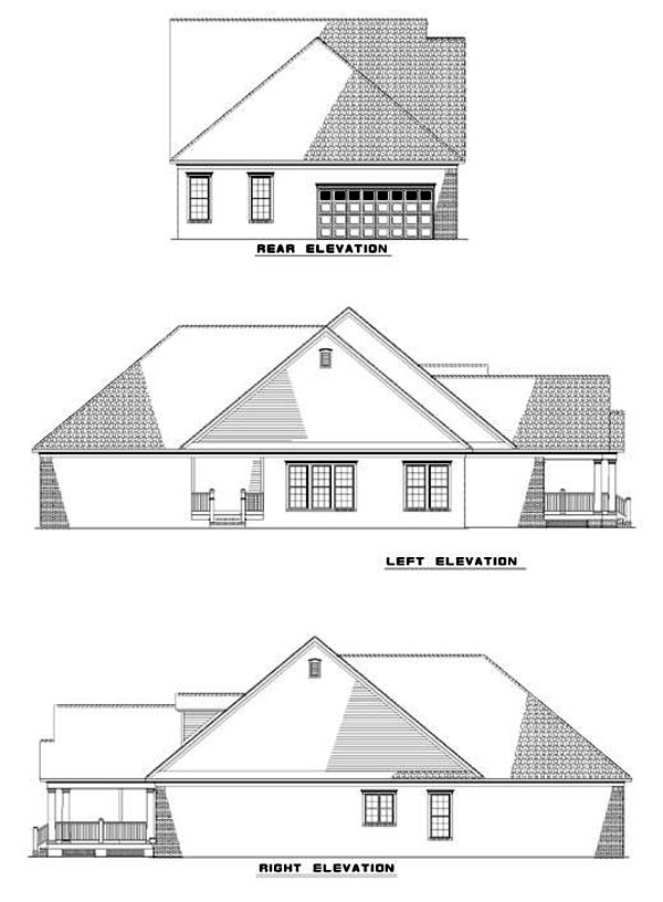 Country Farmhouse Traditional House Plan 82023 Rear Elevation