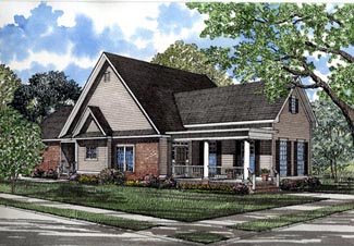 Country , Farmhouse , Elevation of Plan 82024