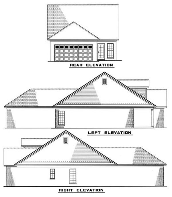 Cape Cod Country House Plan 82029 Rear Elevation