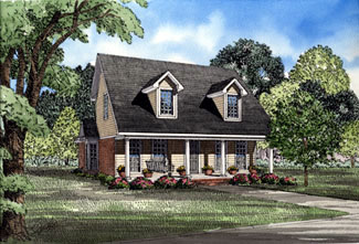 Cape Cod Country House Plan 82030 Elevation