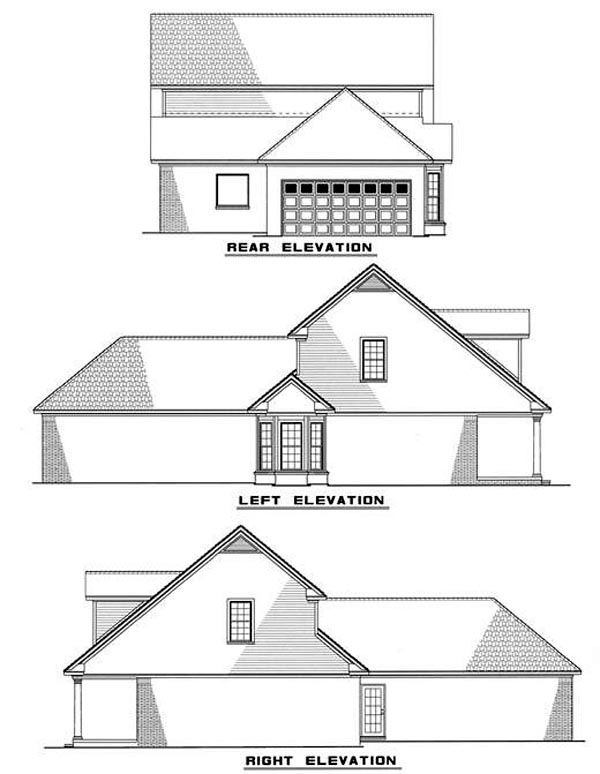 Cape Cod Country House Plan 82030 Rear Elevation