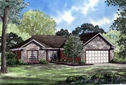 Ranch House Plan 82032 with 3 Beds, 2 Baths, 2 Car Garage Elevation