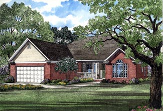 Ranch House Plan 82033 Elevation
