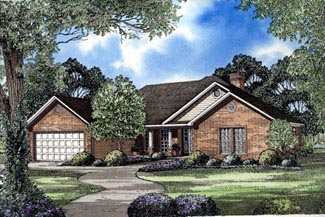 Ranch House Plan 82034 Elevation