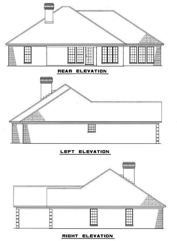 Ranch House Plan 82034 Rear Elevation