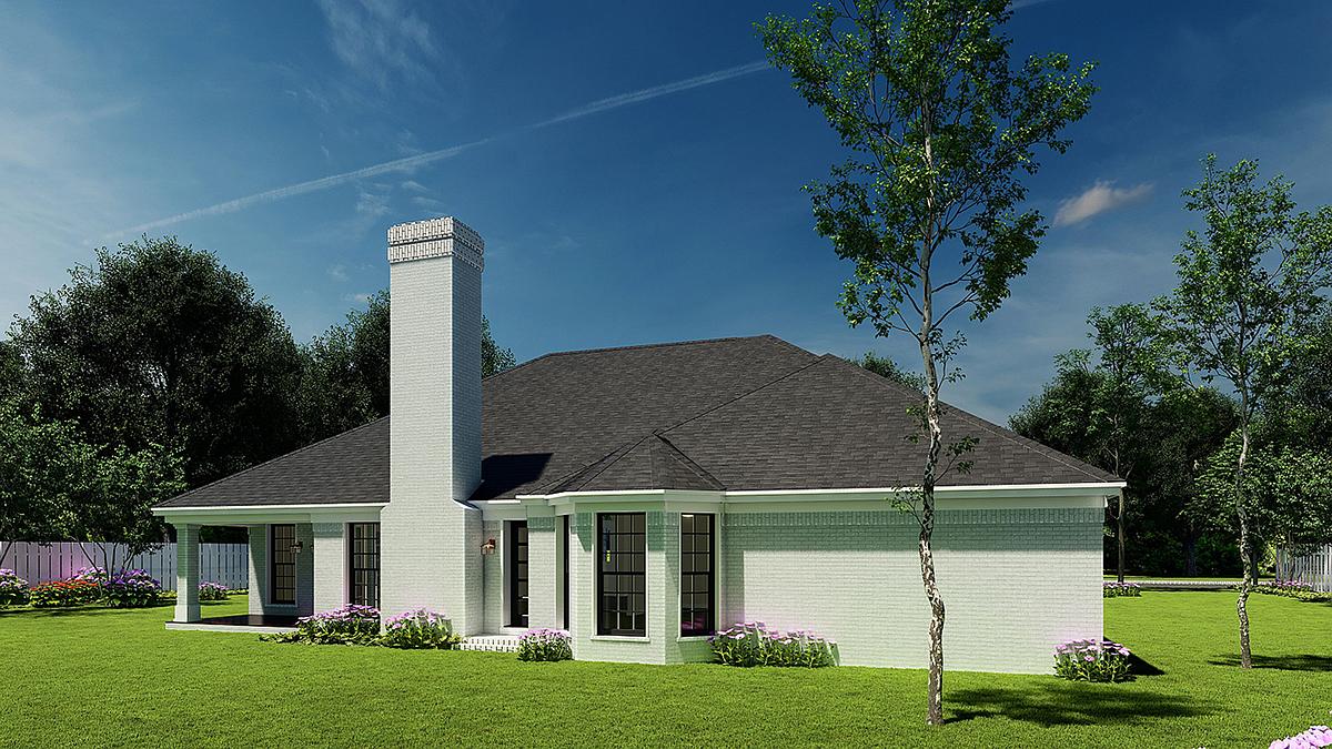 European House Plan 82035 Rear Elevation
