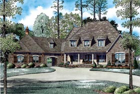 House Plan 82036 | Style Plan with 6004 Sq Ft, 6 Bed, 6 Bath, 4 Car Garage Elevation