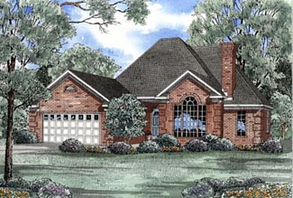 European House Plan 82037 Elevation