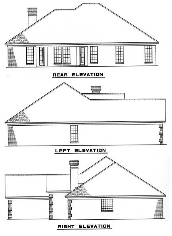 European House Plan 82037 Rear Elevation