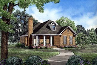 Colonial Country House Plan 82039 Elevation