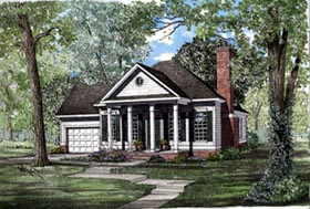 Colonial European House Plan 82040 Elevation