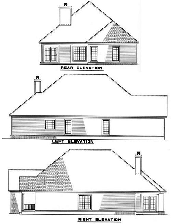 Ranch House Plan 82041 Rear Elevation