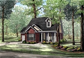 Plan Number 82042 - 1281 Square Feet