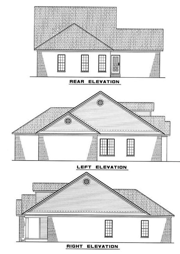 Country House Plan 82042 Rear Elevation