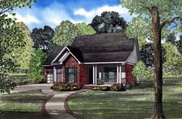 House Plan 82045 | Country Style Plan with 1289 Sq Ft, 3 Bedrooms, 2 Bathrooms, 2 Car Garage Elevation