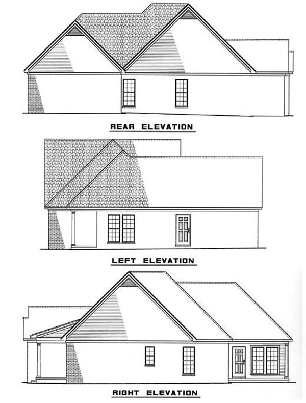 Country House Plan 82045 Rear Elevation