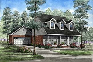 Cape Cod Country House Plan 82046 Elevation