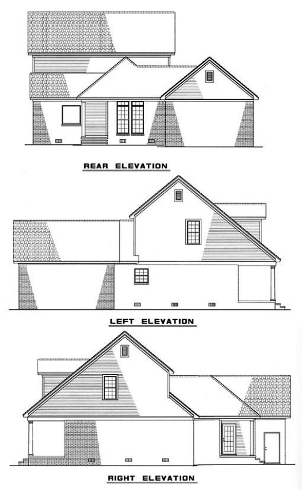 Cape Cod Country House Plan 82046 Rear Elevation