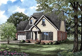 Country House Plan 82047 with 3 Beds, 3 Baths, 2 Car Garage Elevation