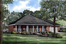 Colonial House Plan 82050 Elevation