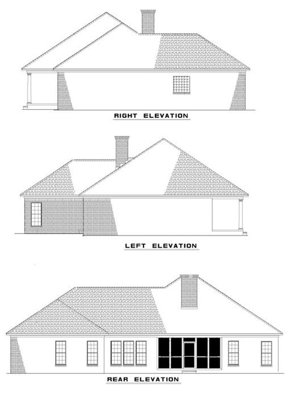 Colonial House Plan 82050 Rear Elevation