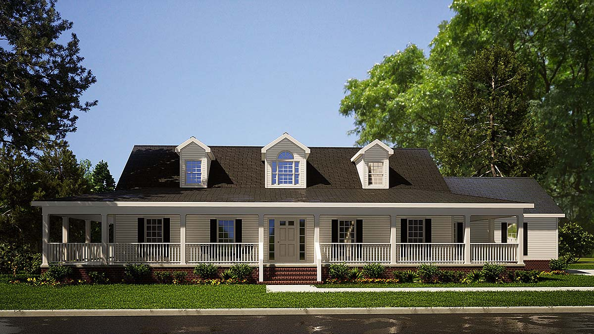 Country House Plan 82051 with 3 Beds, 2 Baths Elevation