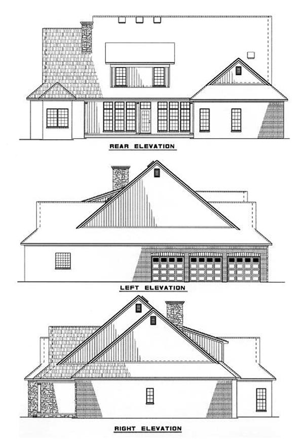 Country House Plan 82053 Rear Elevation