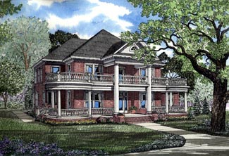 Plantation , Colonial , Elevation of Plan 82054