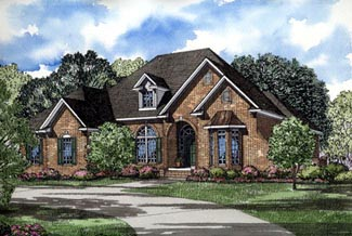 European House Plan 82055 Elevation
