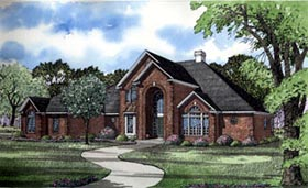 European House Plan 82060 with 4 Beds, 5 Baths, 3 Car Garage Elevation