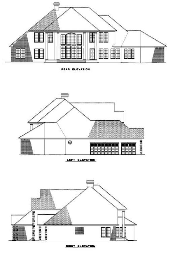 European House Plan 82060 Rear Elevation