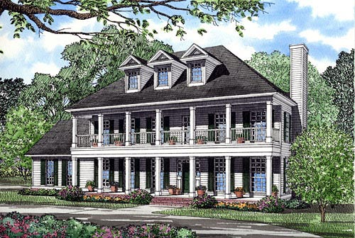 Colonial Southern House Plan 82061 Elevation