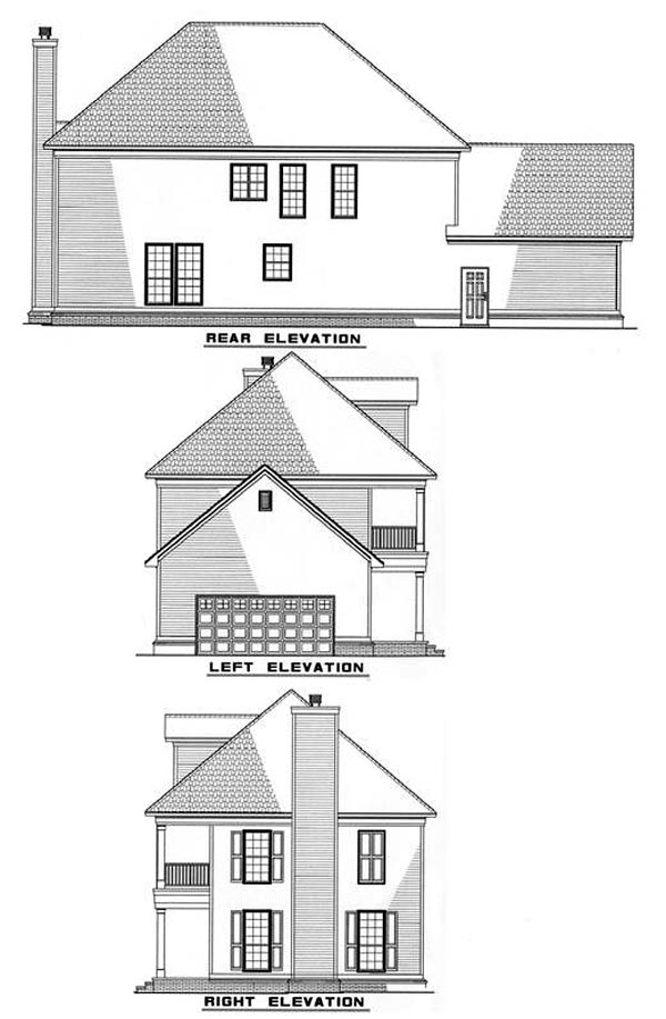 Colonial Southern House Plan 82061 Rear Elevation