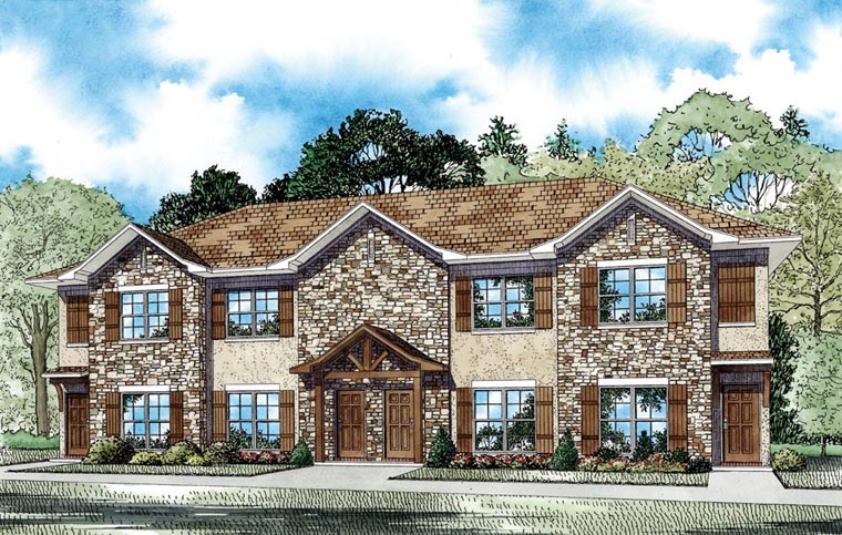Multi-Family Plan 82063 Elevation
