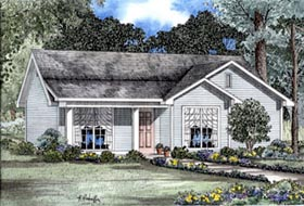 Cabin Country Ranch House Plan 82064 Elevation