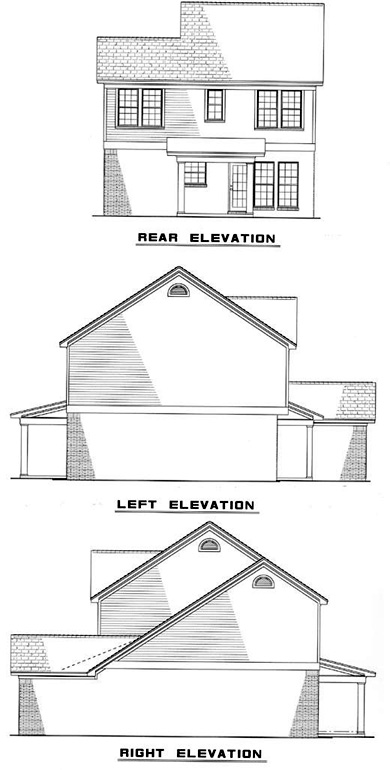 Colonial Country Traditional House Plan 82065 Rear Elevation