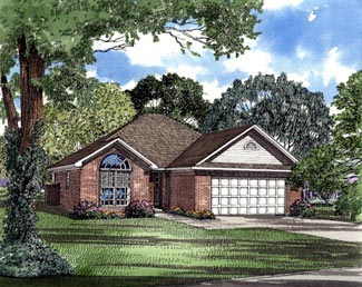 European House Plan 82066 Elevation