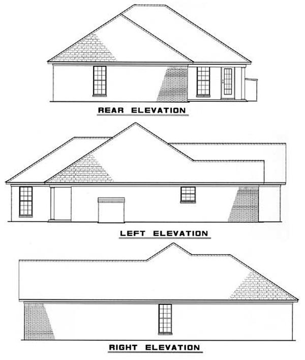 European House Plan 82066 Rear Elevation