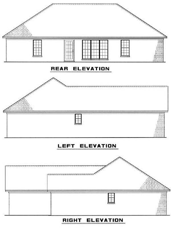 Traditional House Plan 82067 Rear Elevation