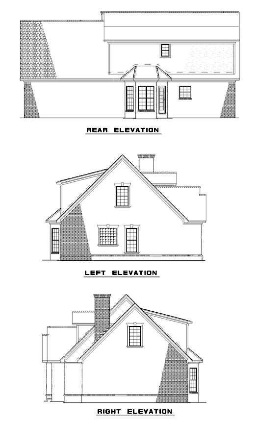 Cape Cod House Plan 82071 Rear Elevation