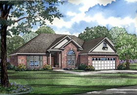 European House Plan 82072 Elevation