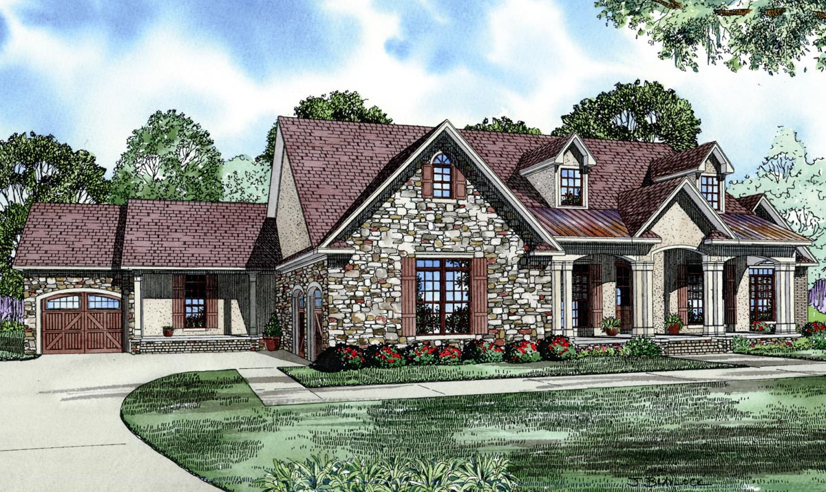 Best House Plans With Attached 4 Car Garage Contemporary - 3D ...