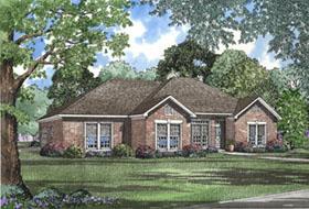 European Traditional House Plan 82075 Elevation