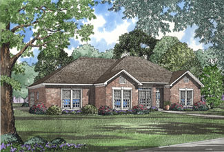 European Traditional House Plan 82075 Elevation