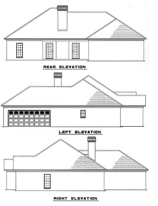 European Traditional House Plan 82075 Rear Elevation