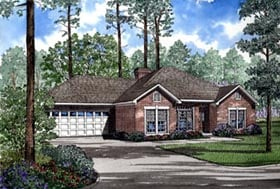 House Plan 82076 | Traditional Style Plan with 1926 Sq Ft, 4 Bedrooms, 2 Bathrooms, 2 Car Garage Elevation