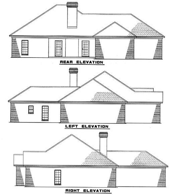 Traditional House Plan 82076 Rear Elevation